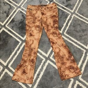 Early 2000s Rampage animal print flares